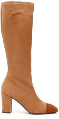Stuart Weitzman Bicolor Jacinda Boots