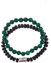 Ben Sherman Beaded Stretch Bracelet - Set of 2