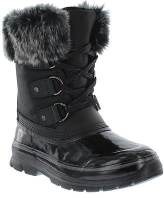 Khombu Waterproof Leather Faux Fur Boots - Reagan