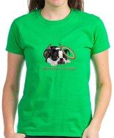 CafePress - Mommas Lil Angel Boston Terrier T-Shirt - Womens Cotton T-Shirt