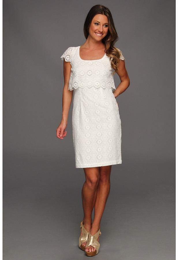 Jessica Simpson Popover Dress (White) - Apparel