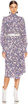 Etoile Isabel Marant Yescott Dress in Blue | FWRD