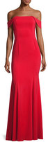 Jay Godfrey Biles Off-the-Shoulder Mermaid Gown, Red