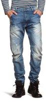 G Star G-Star Men's Arc 3D Loose Tapered Leg Jean in Medium Aged Destroy