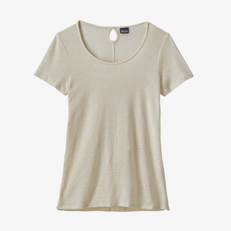 Patagonia White Wash Womens Mount Airy Scoop T Shirt - small