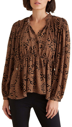 Seed Heritage Animal Frill Blouse No