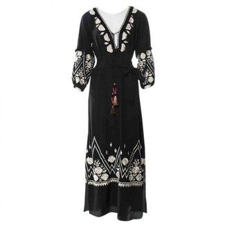 Figue Black Silk Dress for Women