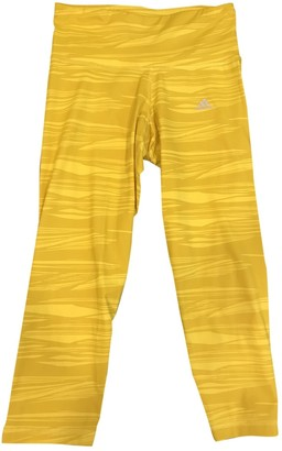 adidas Yellow Polyester Trousers