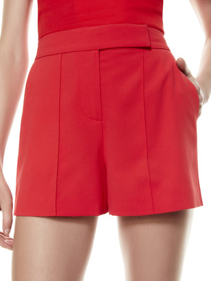 Alice + Olivia Dylan High Waisted Pintuck Short