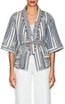 Warm Women's Weekend Folkloric-Print Cotton Kimono Jacket