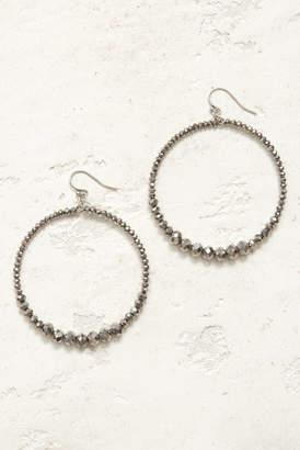 Chan Luu Silver Open Circle Multi Beaded Drop Earrings Silver 1 Size