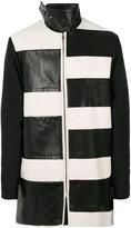 Rick Owens stripe panel coat