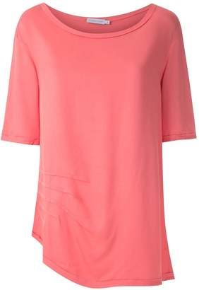 M·A·C Mara Mac creased short sleeved blouse