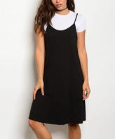White & Black Layered Tee Dress