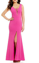 GB Social Illusion Neckline Gown