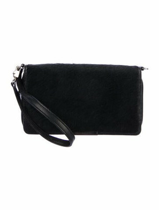 Givenchy Pony Hair Wallet On Strap Black