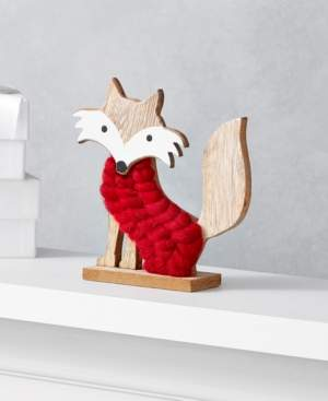 Holiday Lane The Holiday Collection Fox in Red Sweater, Created for Macy's