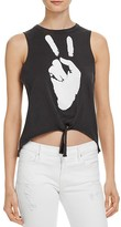 Chaser Peace Out Tie Front Tank - 100% Bloomingdale's Exclusive