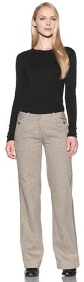 Charlotte Ronson Women's Wide Leg Herringbone Pants