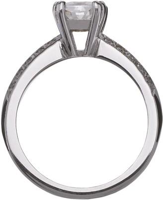 Moissanite 18 Carat 150pt White Gold Cushion Cut Engagement Ring
