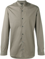 Z Zegna plain long sleeve shirt - men - Cotton/Spandex/Elastane - 39