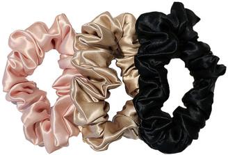 Slip Classic Large Scrunchie 3 Pack in Black, Pink & Caramel | FWRD