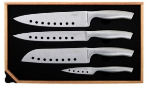 Ozeri 5-Piece Japanese Stainless Steel Knife and Sharpener Set