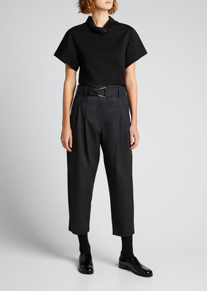 3.1 Phillip Lim Short-Sleeve Folded-Collar T-Shirt