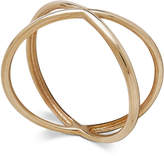 "Macy's Polished Crisscross ""X"" Statement Ring in 18k Gold"