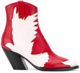 A.F.Vandevorst cut-off bird mid-calf boots