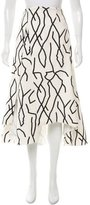 Ellery Abstract Print High-Low Skirt