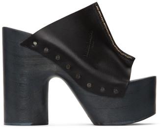 Maison Margiela Black Tabi Clog Heeled Sandals