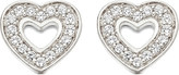 Astley Clarke Mini Heart sterling silver and white sapphire stud earrings