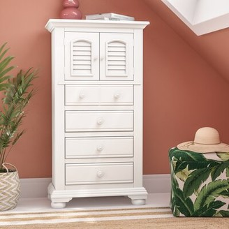 Three Posts Morpeth 4 Drawer Combo Dresser Color: Distressed Eggshell White