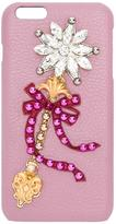 Dolce & Gabbana embellished wand patch iPhone 6 Plus case - women - Calf Leather/Brass/glass - One Size