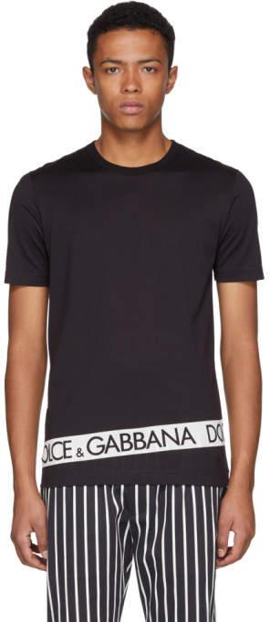 Dolce & Gabbana Black Logo Tape T-Shirt