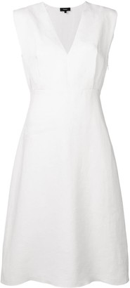 Theory sleeveless flared dress