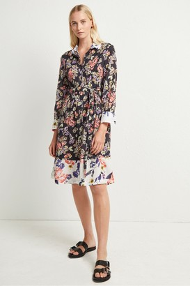 French Connection Acena Voile Floral Shirt Dress