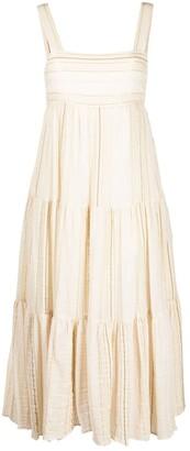 Masscob Sleeveless Flared Midi Dress