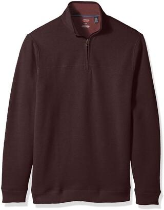 Arrow 1851 Men's Big Saranac Long Sleeve 1/4 Zip Sueded Fleece Pullover