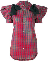 DSQUARED2 checked shirt - women - Cotton/Polyamide/Polyester/Viscose - 44