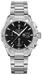 Tag Heuer Aquaracer Automatic Chronograph Watch with Black Dial, 43mm