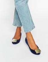 Melissa Ultragirl Plaque Flock Flat Shoes