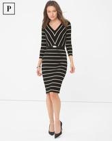 White House Black Market Petite Striped Sheath Dress