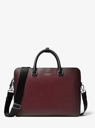 Michael Kors Henry Ombre Crossgrain Leather Briefcase