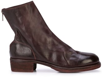 Guidi Back Zipped Ankle Boots