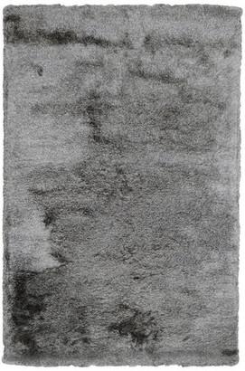 Kosas Home Collins Hand-Woven Shag Area Rug, Dark Gray, 5'x8'