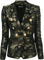 Balmain camouflage double breasted blazer