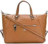 Coach external zipped pocket tote - women - Leather/Polyester - One Size