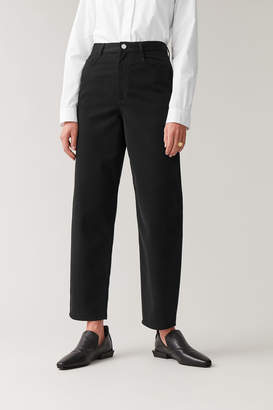 Cos HIGH-WAISTED COTTON TROUSERS